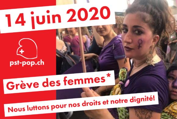 Appel du Parti suisse du Travail PST-POP à participer aux mobilisations du 14 juin